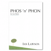 Phos 'n' Phon (two flutes) score and parts IAN LAWSON